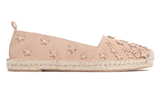 shoes blush pink espadrilles zara stars studded shoes
