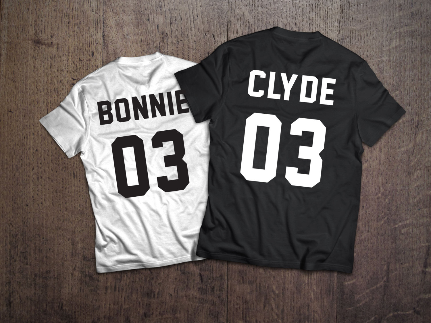 3943373ff couple t-shirts BONNIE CLYDE, shirts, couple, match shirts, wifey ...