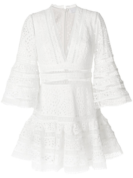 Zimmermann dress women white cotton
