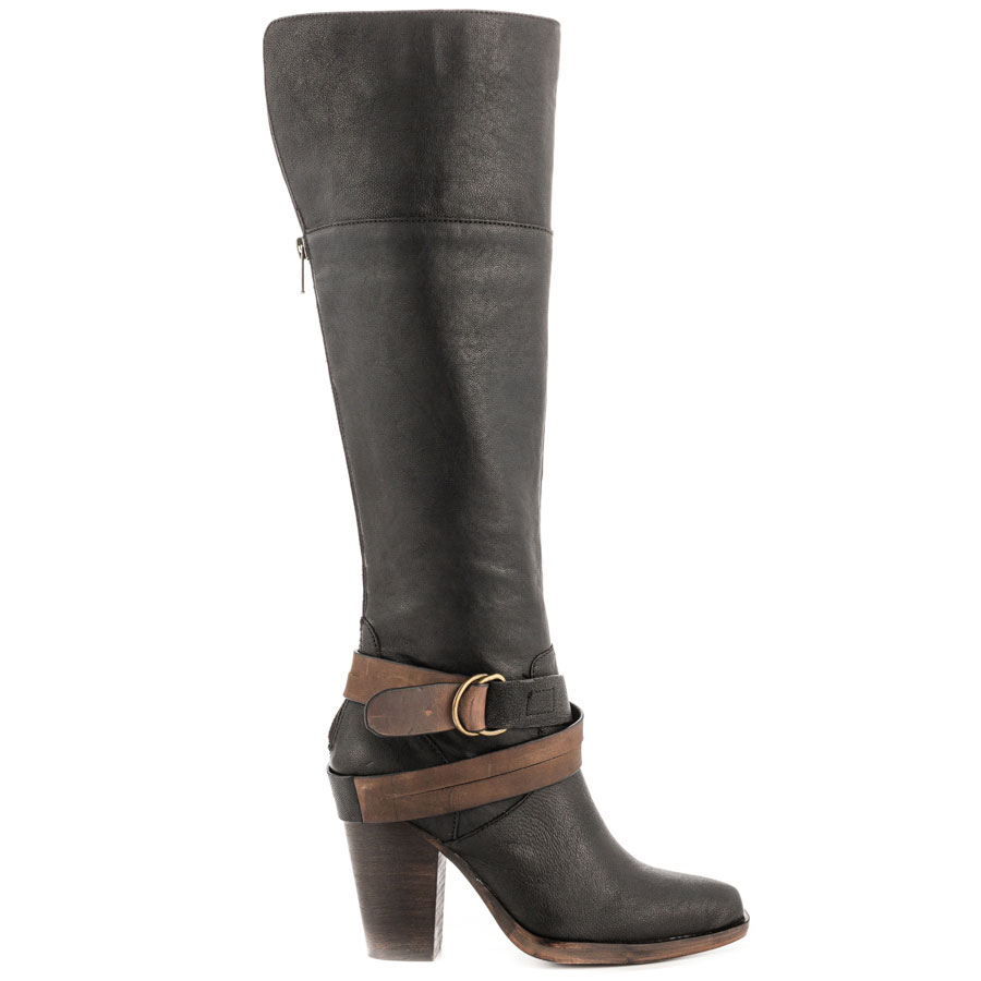 Marshha - Black Leather, Steven by Steve Madden, 179.99, FREE 2nd Day Shipping!