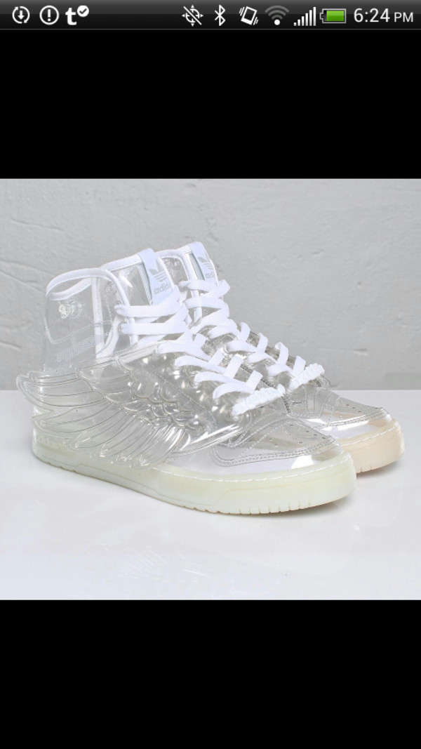 shoes sneakers transparent wings