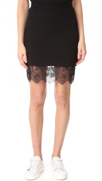 skirt lace skirt noir lace