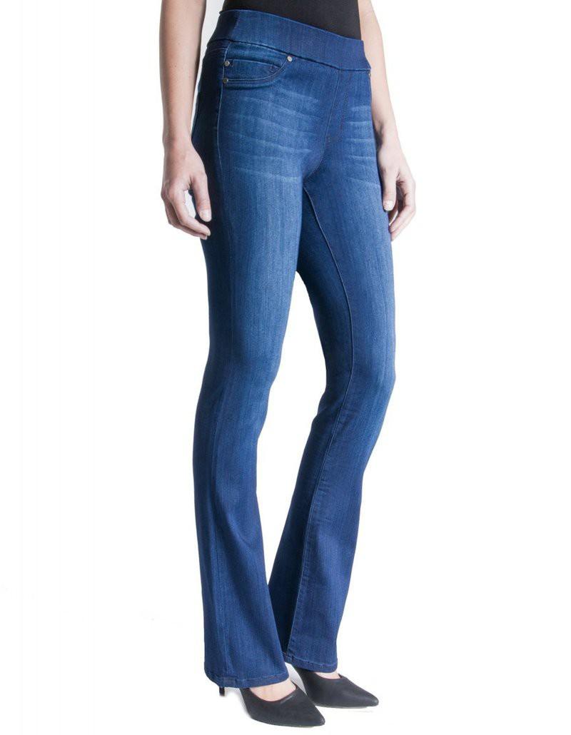 Liverpool Kimberly Pull-On Boot Havasu Deep Blue jeans