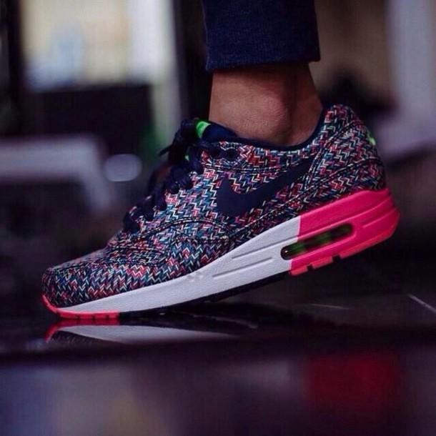 shoes nike cute nike air max 1 air max nike pink black air max