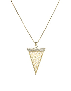 Johnny Loves Rosie | Johnny Loves Rosie Statement Triangle Necklace at ASOS