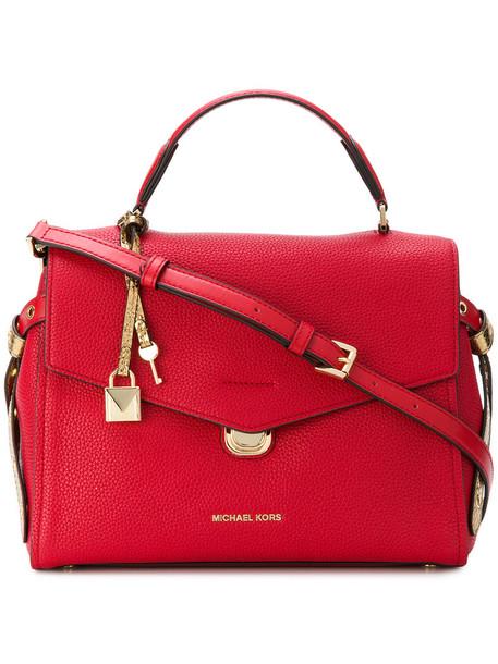 MICHAEL Michael Kors satchel women leather red bag