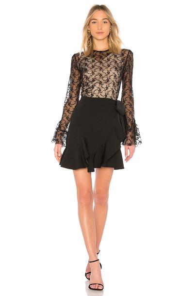 GOEN.J dress long sleeve dress long lace black