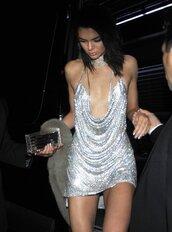 dress,kendall jenner,diamante dress,party dress,celebrity,kendall and kylie jenner,celebrity style
