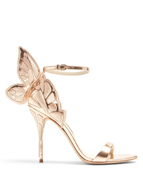 Sophia Webster butterfly sandals leather sandals leather rose gold rose gold shoes