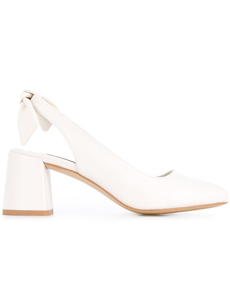 Senso heel women pumps leather white shoes