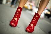 shoes,high heels,red,gladiators,suede booties