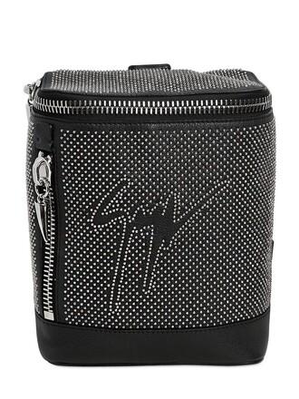 mini studded backpack leather backpack leather black bag