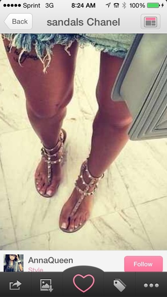 shoes spiked shoes gold sandals flats