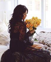 swimwear,black cover-up,black dress,lace dress,black lace