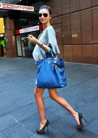 bag miranda kerr blue bags prada