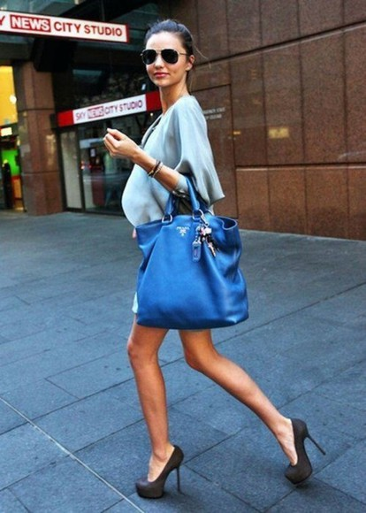 miranda kerr bag blue bags