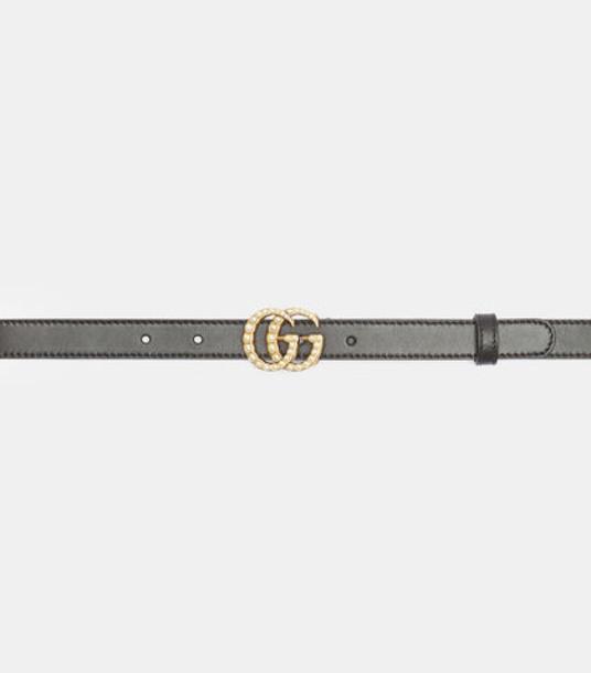 Gucci Slim GG Belt in black