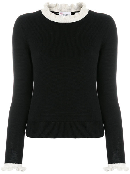 RED VALENTINO sweater women cotton black
