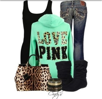 jacket leopard print purse pink victoria's secret