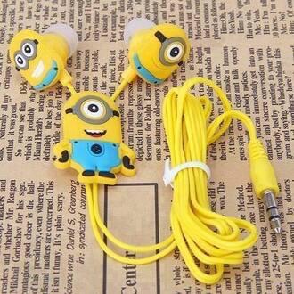 hat earphones minions