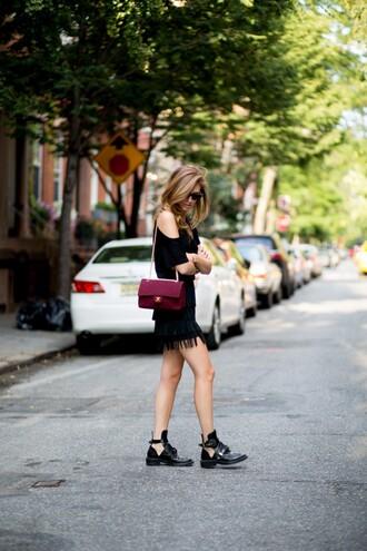 sunglasses shoes t-shirt skirt bag the blonde salad