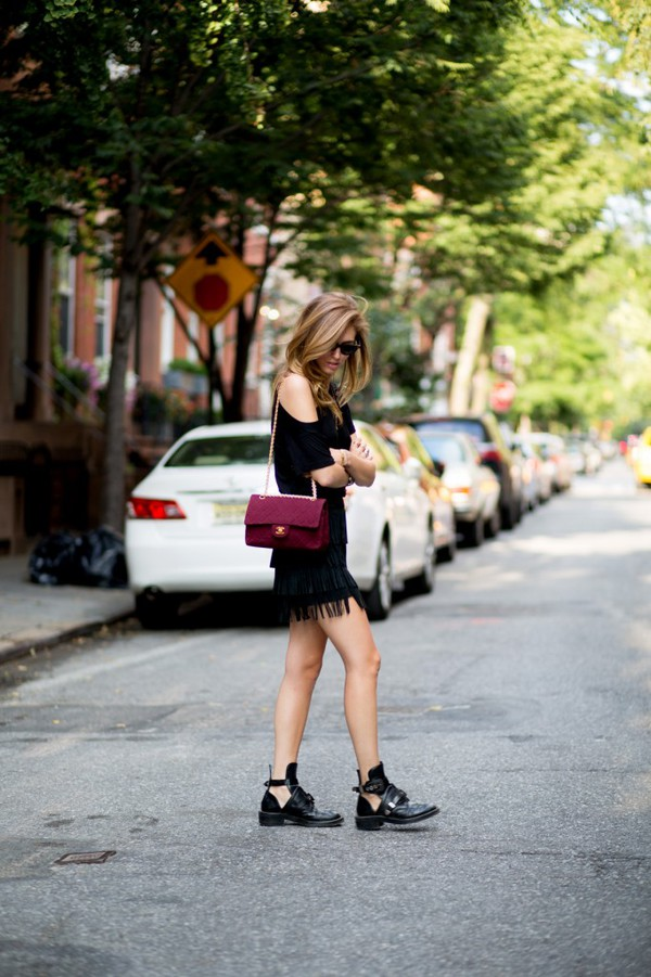 the blonde salad shoes skirt t-shirt bag sunglasses