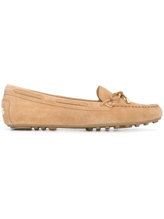 women daisy loafers leather nude suede shoes