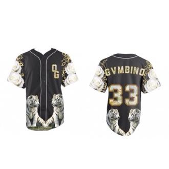 baseball tee jersey urban tiger print