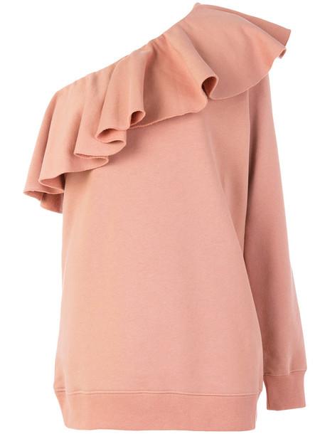 MSGM sweatshirt women cotton purple pink sweater