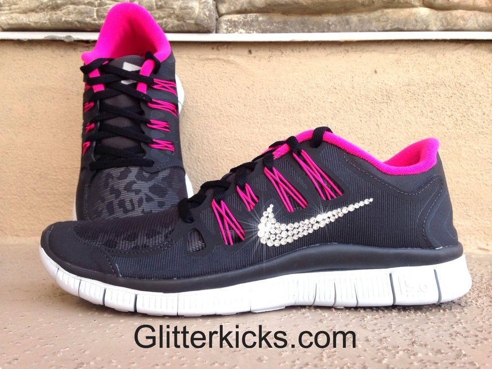 Womens Nike Free 5.0 Shield Flywire Running Shoes Swarovski ... bd8d7853be