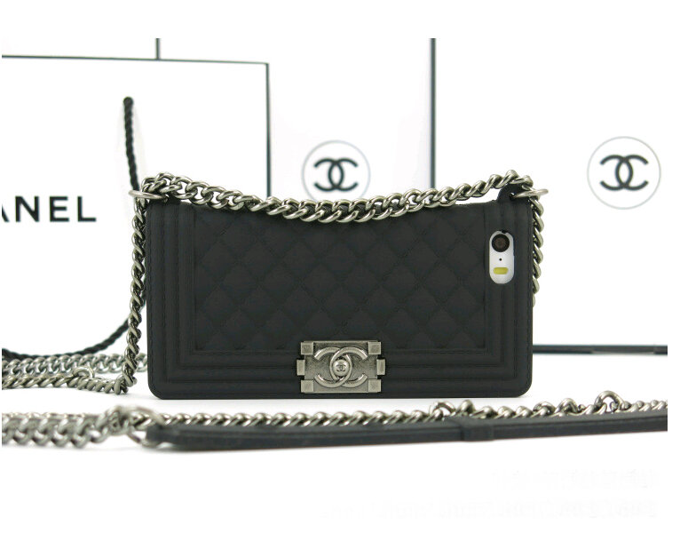 Black Chanel Boy Chain bag phone case for iphone 4s iphone ...