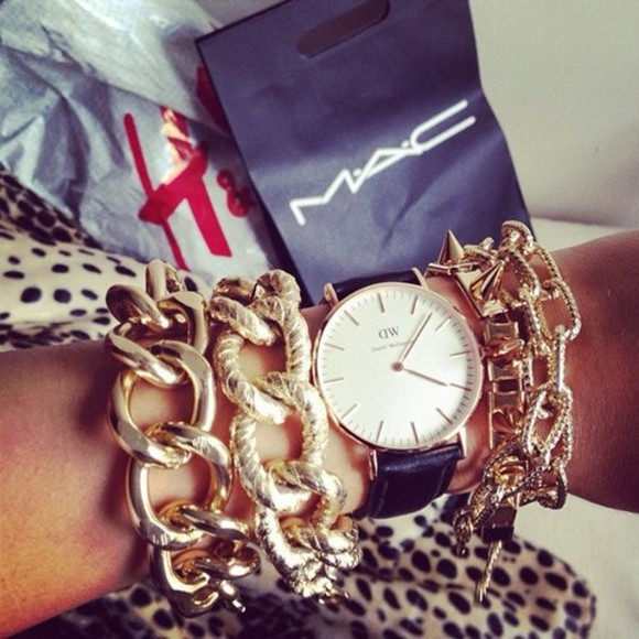 or gold jewels bijoux montre watch tumblr
