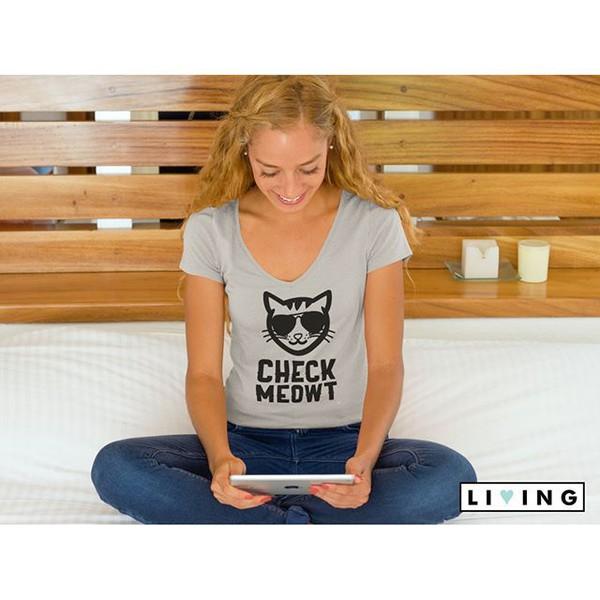t-shirt living apparel cats livingdope pets cute nerd kittenplay kitten face geeks