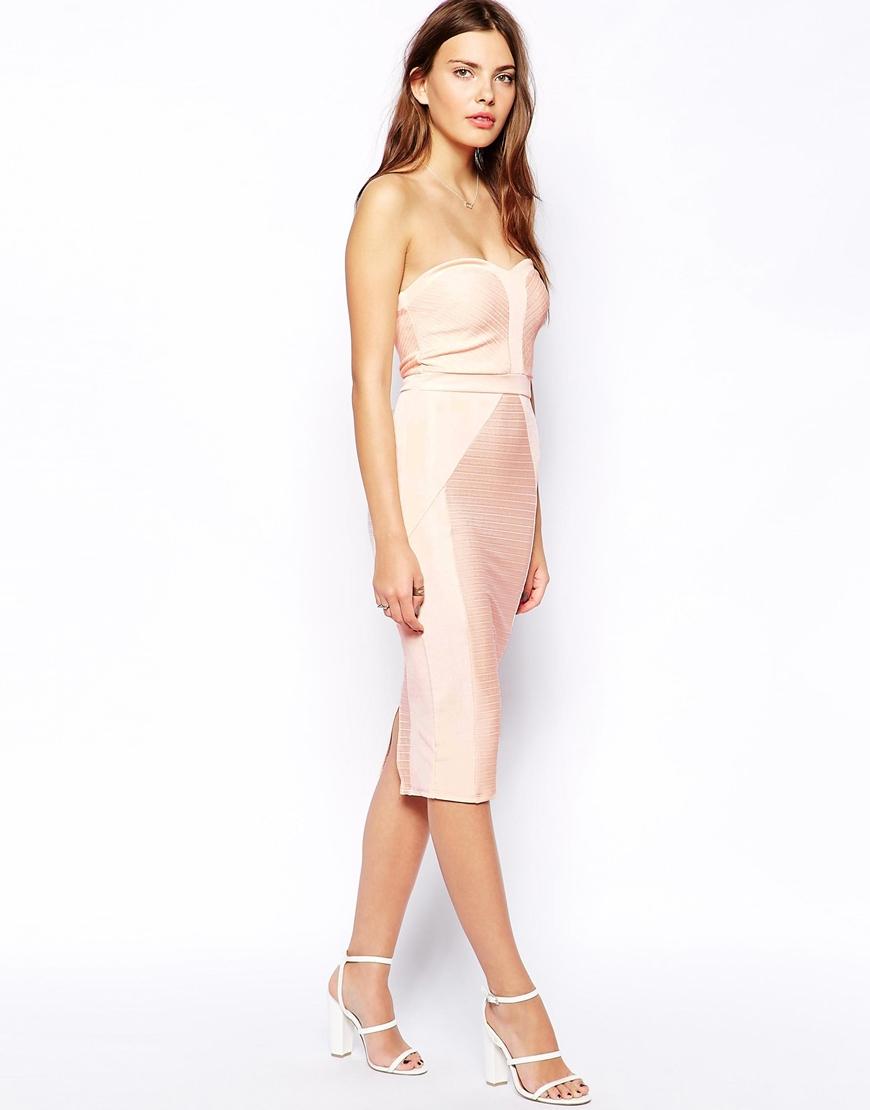 ASOS Bandeau Bandage Midi Dress at asos.com