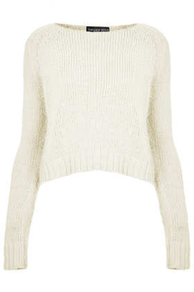 Knitted Fluffy Crop Jumper - Topshop