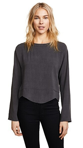 blouse dark charcoal top