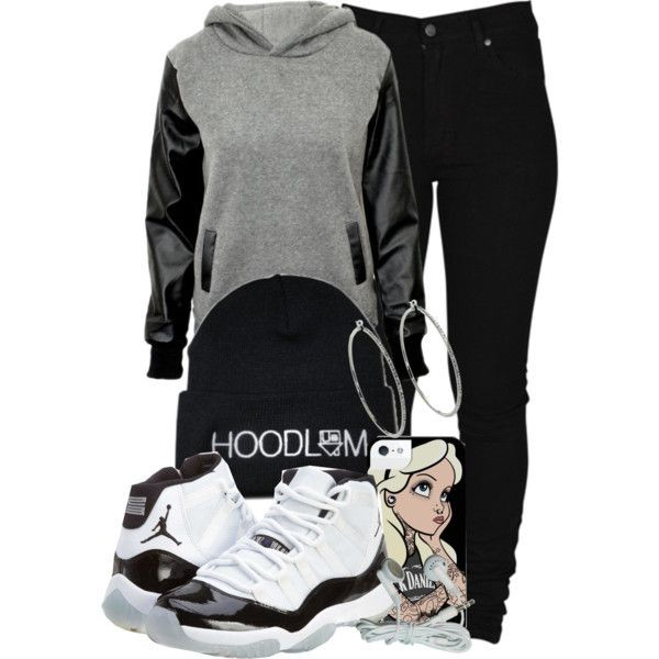 sweater grey leather pullover hoodie black shoes hat jewels