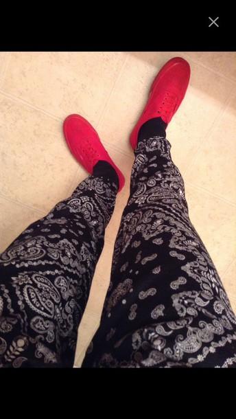 pants bandana print joggers