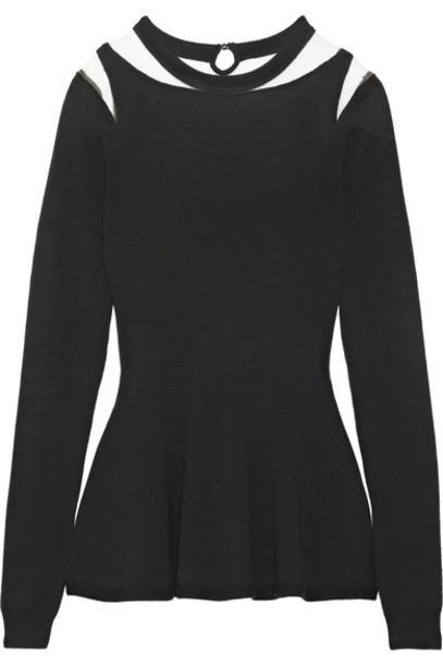 oscar de la renta sweater wool sweater black wool