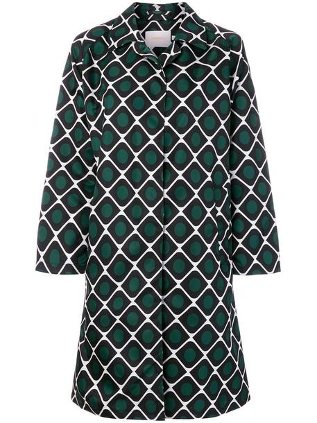 La DoubleJ coat women green pattern