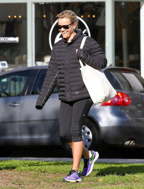 jacket sunglasses leggings sportswear reese witherspoon