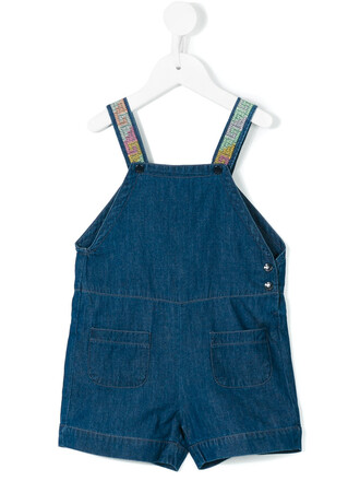 overalls denim overalls denim straps embroidered cotton blue jumpsuit