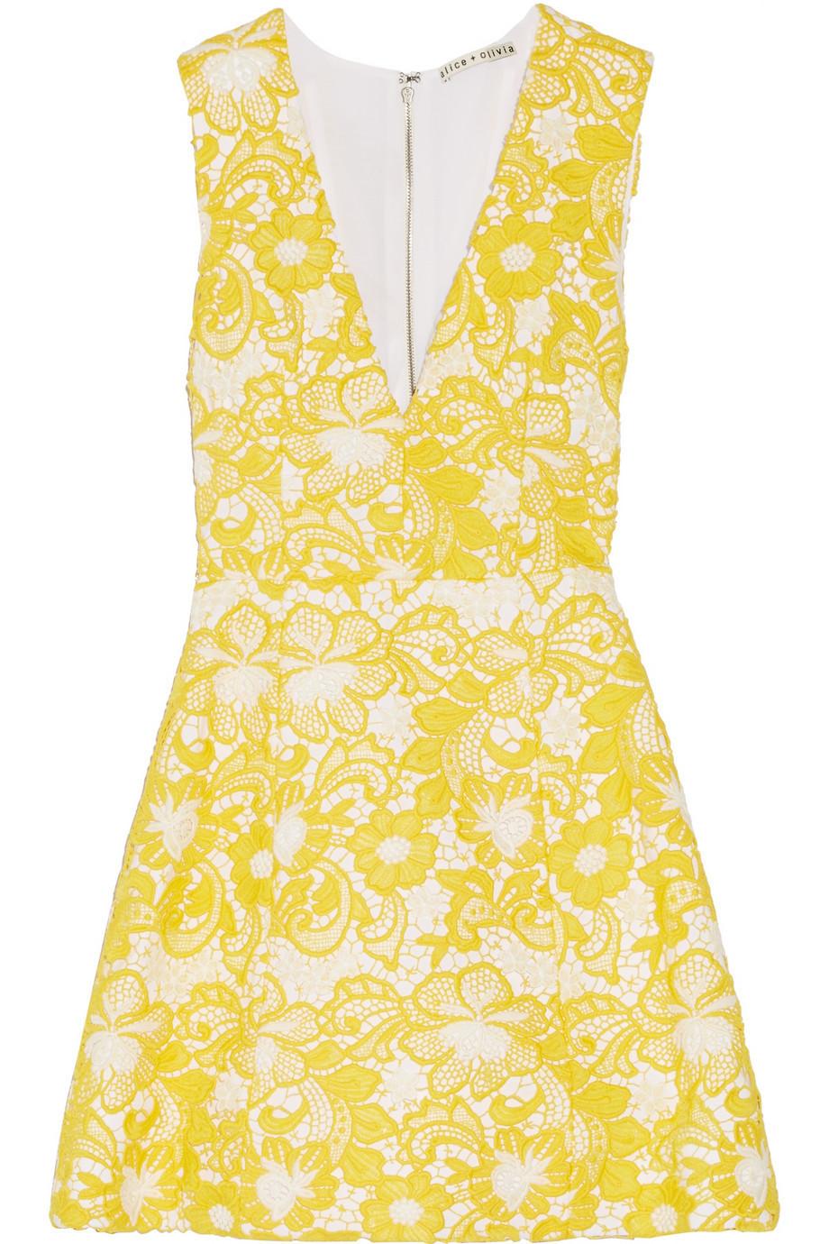 alice olivia alice olivia crissy wrap one sleeve goddess dress