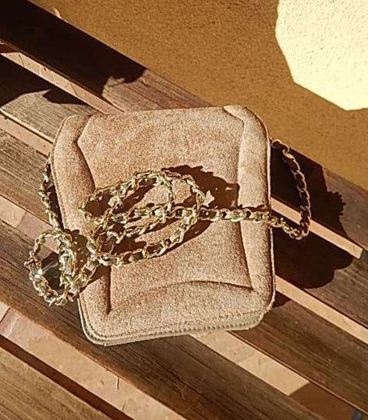 bag vintage purse vintage vintage bag vintage gold chain gold chain bag suede bag hipster
