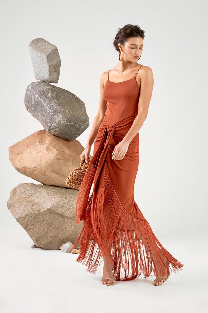 Cult Gaia Natalia Gown - Terracotta                                                             $ 948.00 USD