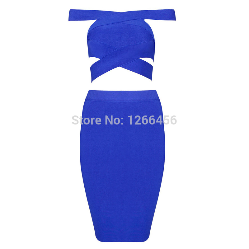 Aliexpress.com : Buy Women Popular 2014 Criss Cross Off The Shoulder Cut Out Blue Two Pieces Sets Hot Sexy New Club Blue Bandage Dress H1100 from Reliable bandage dress yellow suppliers on Lady Go Fashion Shop