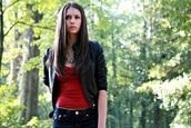 jacket,the vampire diaries,elena gilbert,jeans,shirt