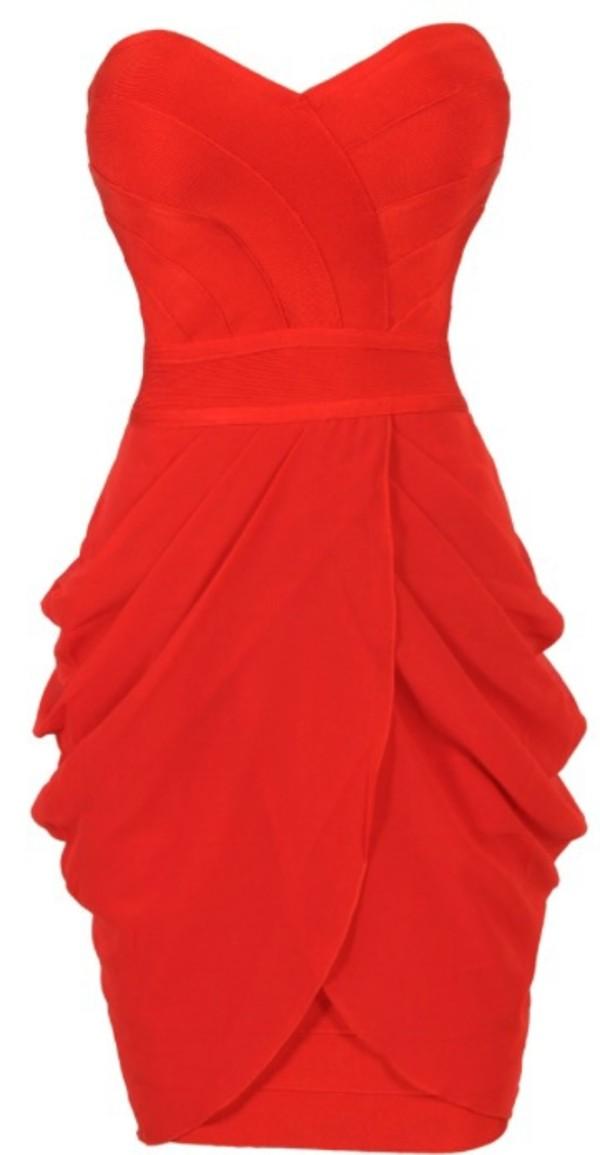 dress red celebrity dress