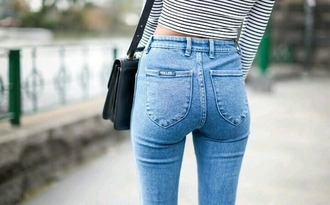 jeans basic high waisted jeans simple chic light blue jeans
