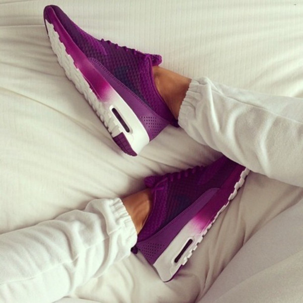 shoes sportswear fitness purple ombre workout relax workout shoes fashion style nike running shoes nike free run pirple air max trainers pants